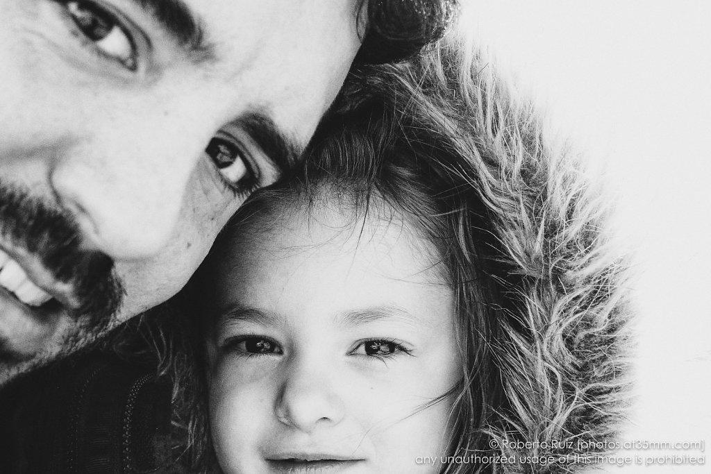Autorretrato de padre e hija